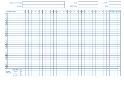 36 General Attendance Sheet Templates In Excel Thogati Time And Attendance Templates Free