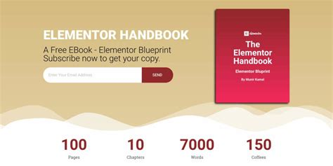 personal landing page template for elementor free free landing page elementor template for ebook cakewp