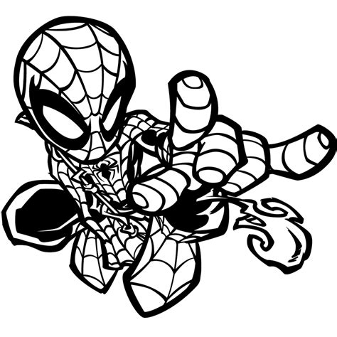 baby spider coloring page greatlp s chibi spider inks by sircle on deviantart