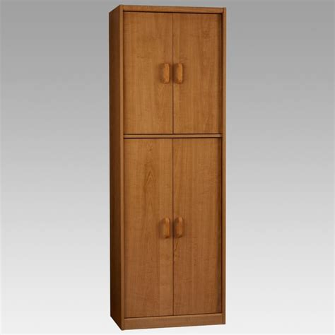 Kitchen Tall Wood Kitchen Storage Cabinet With Doors For Storage Kitchen Cabinets