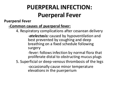 87 causes of fever after c section complications
