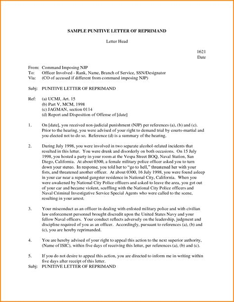 letter of reprimand template letter of reprimand template authorization letter pdf