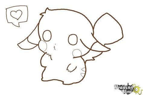 chibi pikachu coloring page how to draw a chibi pikachu drawingnow