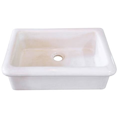 farm sink white porcelain heavy antique white porcelain farm sink from circa