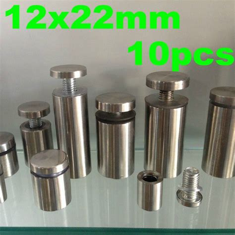 12mm x 22mm 10pcs stainless steel acrylic advertisement fixing screws barrel glass