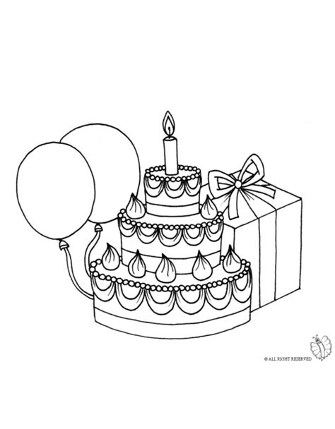 coloring pictures of birthday cakes and balloons coloring page of birthday cake with balloons for coloring