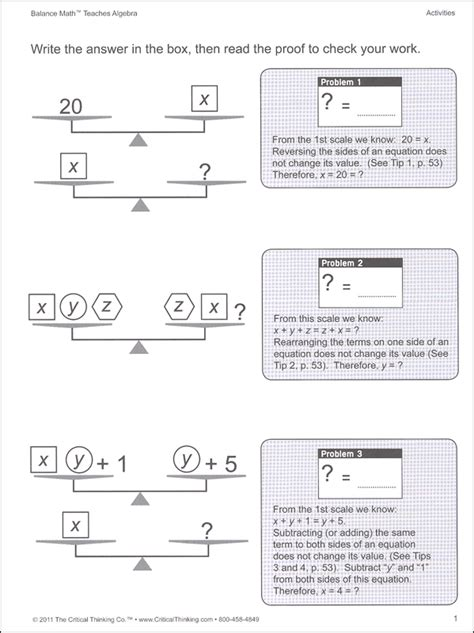 Pan Balance Worksheets by Common Worksheets 187 Pan Balance Problems Preschool And