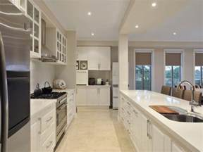 modern galley kitchen ideas modern galley kitchen design using stainless steel