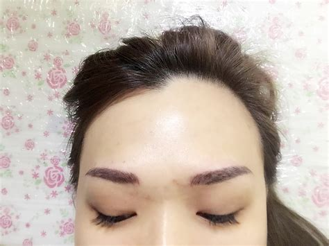 eyeliner tattoo years later deliriously angelic korean 6d eyebrow embroidery by