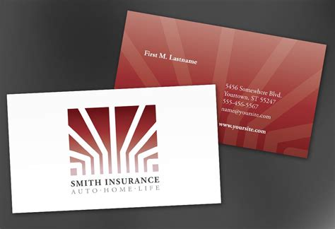 Professional Business Card Template For Insurance Broker With Photo by Insurance Business Cards Free Resume Sles Writing