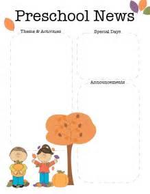toddler newsletter templates the crafty october preschool newsletter template