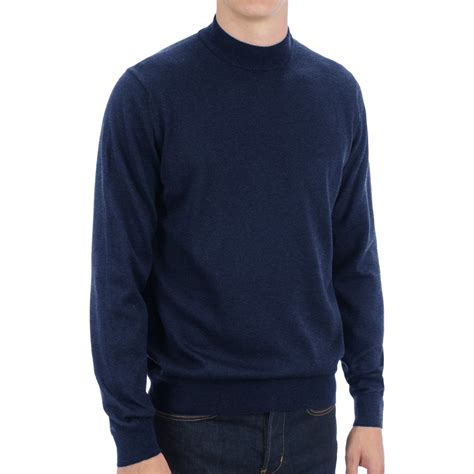 Sweater Mtma Navy Tosca toscano mock turtleneck sweater italian merino wool for save 40