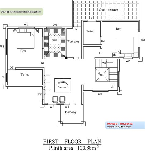 kerala home design first floor plan kerala home plan and elevation 2656 sq ft kerala home