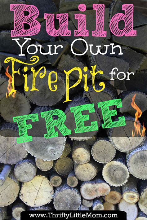 build your own backyard pit using free materials