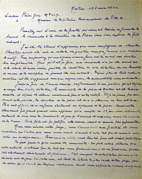 Exemple De Lettre Ecrite A Des Prisonnier Yves P 233 Et Les Trotskistes De La Prison Militaire De