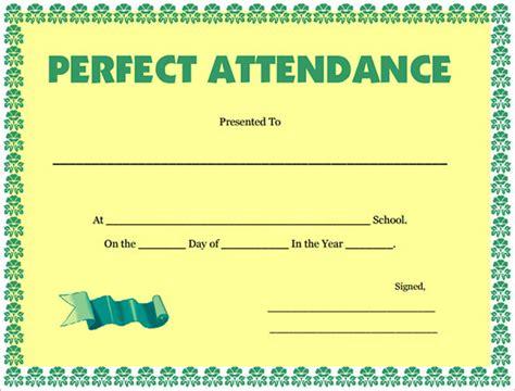 attendance certificate template download free premium