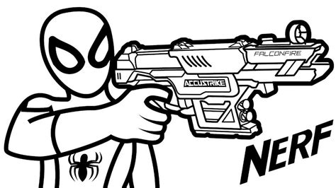 Coloring Page Gun by Nerf Gun Hold By Coloring Page