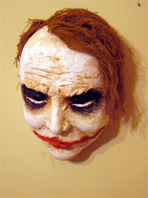 How Do You Make A Paper Mache Mask - make a joker mask with paper mache clay ultimate paper mache