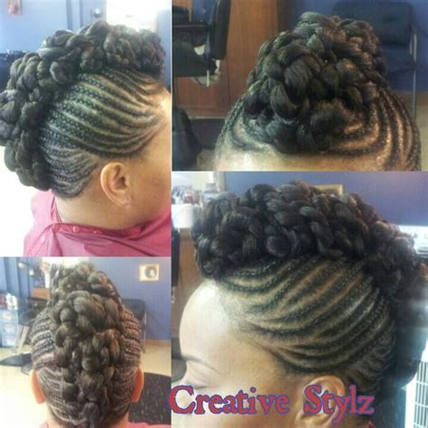 pictures of mohawk cornrows on a side for black kids on pinterest side cornrows mohawk bun must try summer hair styles