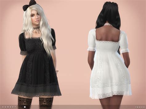 for my sims sunset caramel kawaii mini dress sunset dress by toksik at tsr 187 sims 4 updates