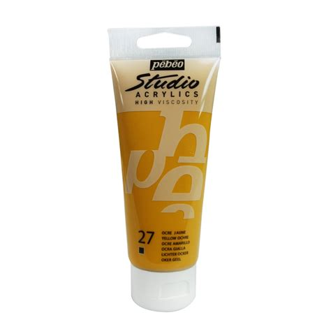 acrylic paint yellow ochre acrylic paint high viscosity p 233 b 233 o studio yellow ochre x