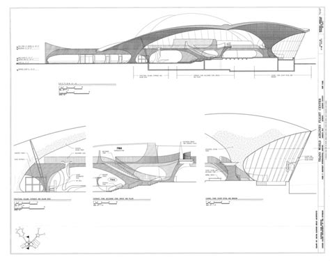 airport sections ad classics twa flight center eero saarinen archdaily