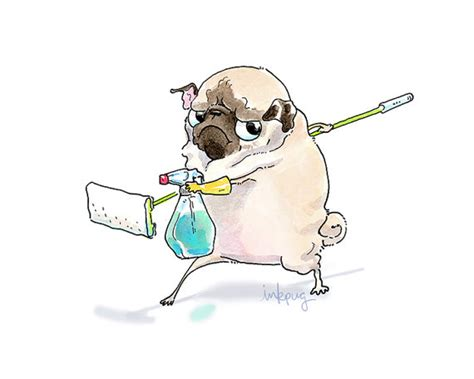 how to clean a pug clean pug print home decor for cleaning day
