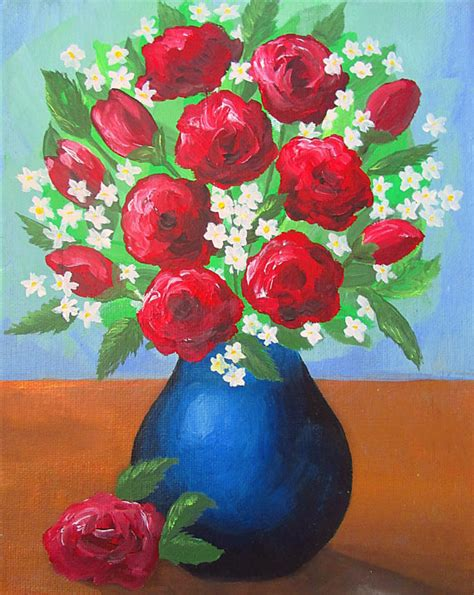 Acrylic Painting Of Flowers In A Vase how to paint a vase with flowers acrylic painting