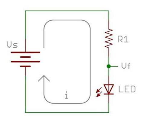 resistor led equation image