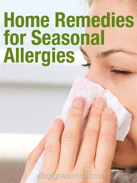 home remedies for seasonal allergies recipe for
