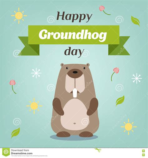 groundhog day vs happy day woodchuck illustrations vector stock images