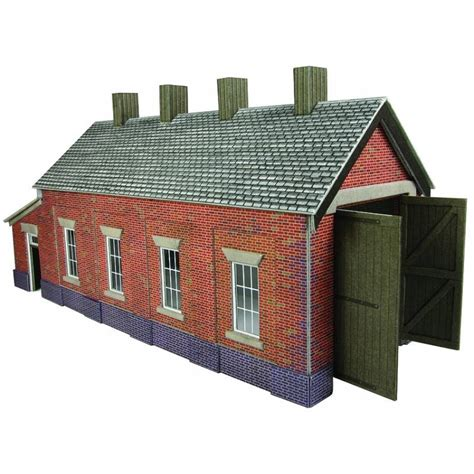 Oo Engine Shed by Metcalfe Ready Cut Card Kits Oo 1 76th Scale