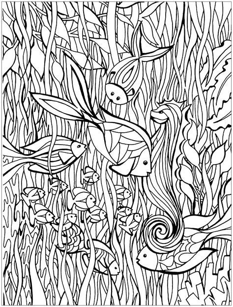 complicated fish coloring pages fish details fishes coloring pages for adults justcolor