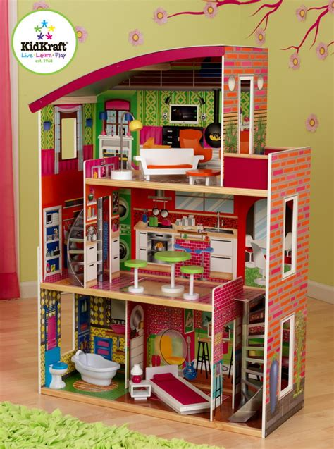 girls wooden dolls house new huge girls wood dollhouse for 12 quot barbie wooden doll house 11 furniture set ebay
