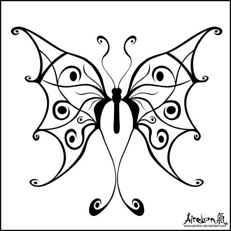 black tribal butterfly tattoos tribal butterfly black by airelon on deviantart