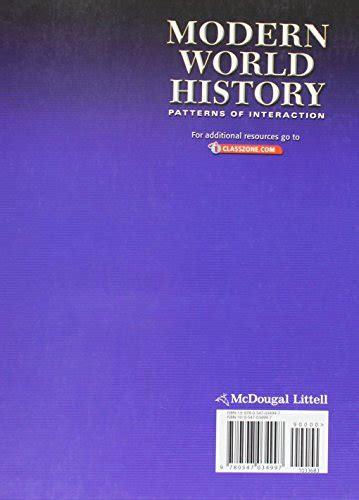 modern world history pattern of interaction world history patterns of interaction student edition