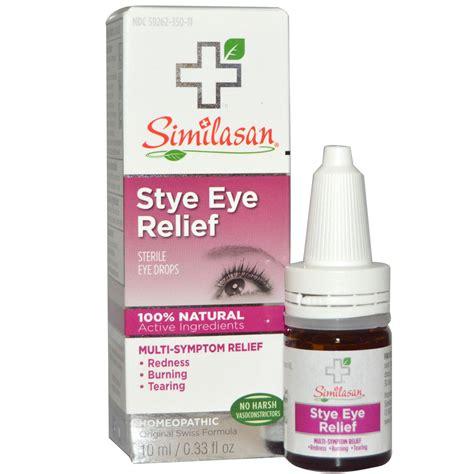 eye drops similasan stye eye relief sterile eye drops 0 33 fl oz 10 ml iherb
