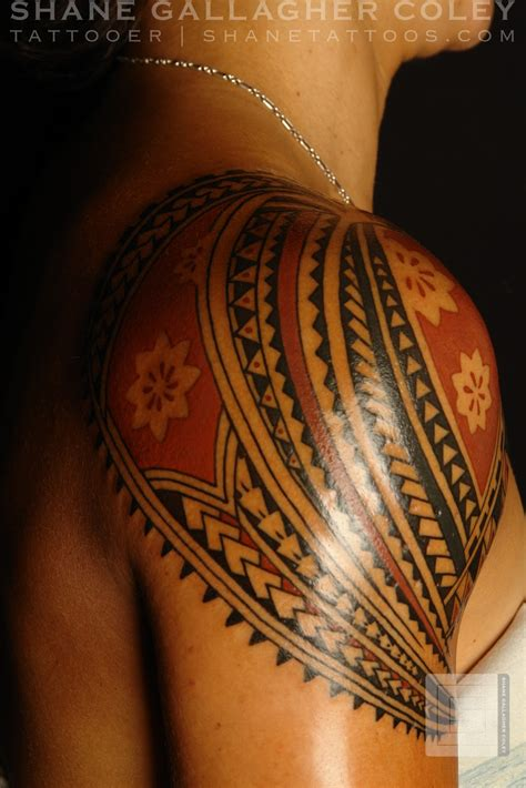 shoulder tattoo shane tattoos polynesian shoulder