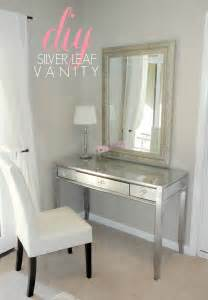 Makeup Vanity Makeover Livelovediy Diy Thrift Store Desk Makeover Using Silver