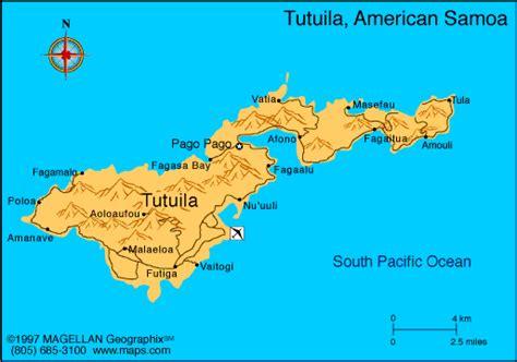 map of samoa and american samoa american samoa map