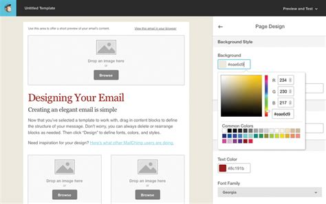 creating mailchimp templates tutorial for creating a custom email template in mailchimp