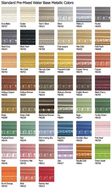 metallic color metallic paint modern masters cafe