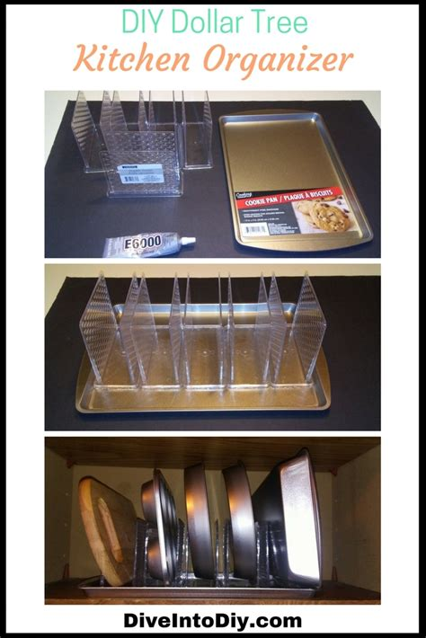 1000 images about organizing kitchen on pinterest this dollar tree diy kitchen organizer is super easy to