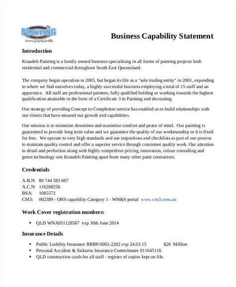 Financial Capability Letter 8 capability statement exles sles