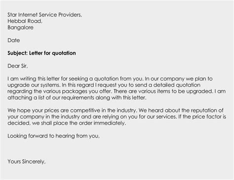 business quotation letter types writing tips