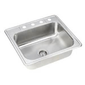 Neptune Kitchen Sink Elkay Neptune Drop In Stainless Steel 25 In 4 Single Bowl Kitchen Sink Hd114559 The Home