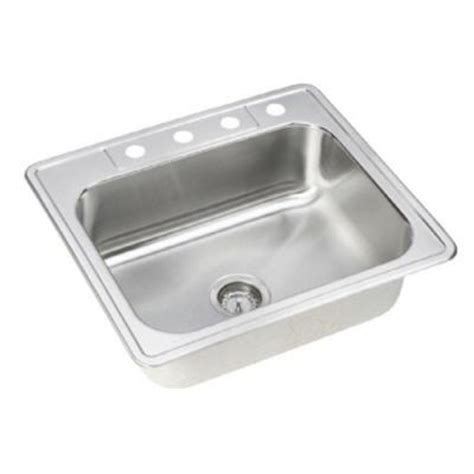 Neptune Sink elkay neptune drop in stainless steel 25 in 4 single