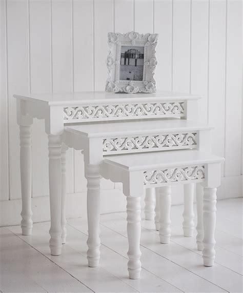 White Bedroom Furniture white nest of tables the white lighthouse living room