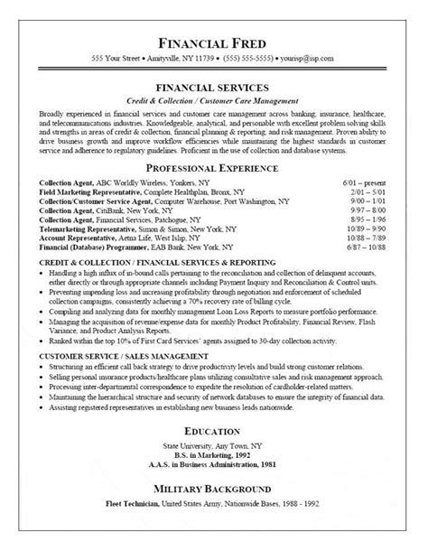Credit And Collection Specialist Resume