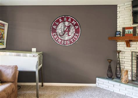alabama football home decor alabama crimson tide realtree logo wall decal shop